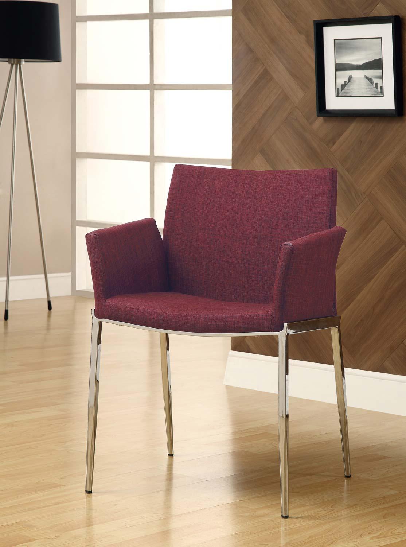 Coaster Mix & Match Dining Chair - Cranberry