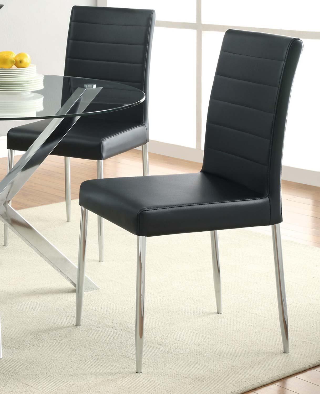dining room chairs online quality coaster 120767blk vance dining chair
