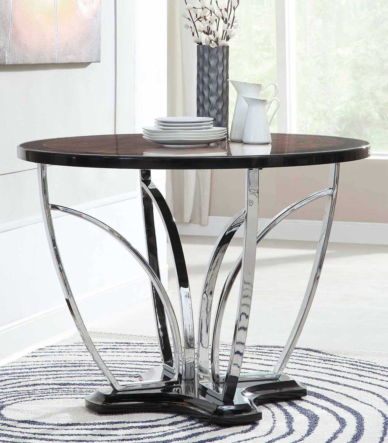 Coaster Counter Height Table - Silver 120865
