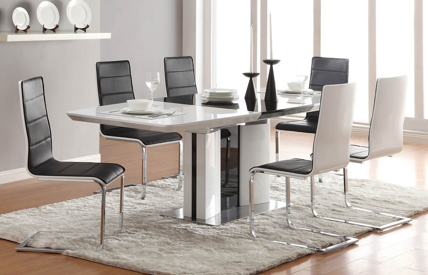Coaster Broderick Modern Dining Set - White