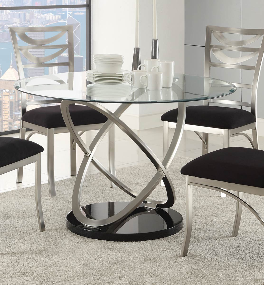 Coaster Tapia Dining Table - Silver Metal