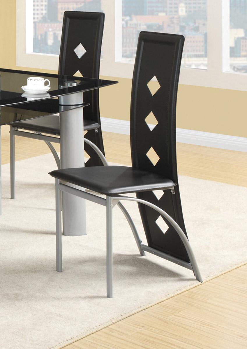 Coaster Fontana Side Chair - Black Vinyl