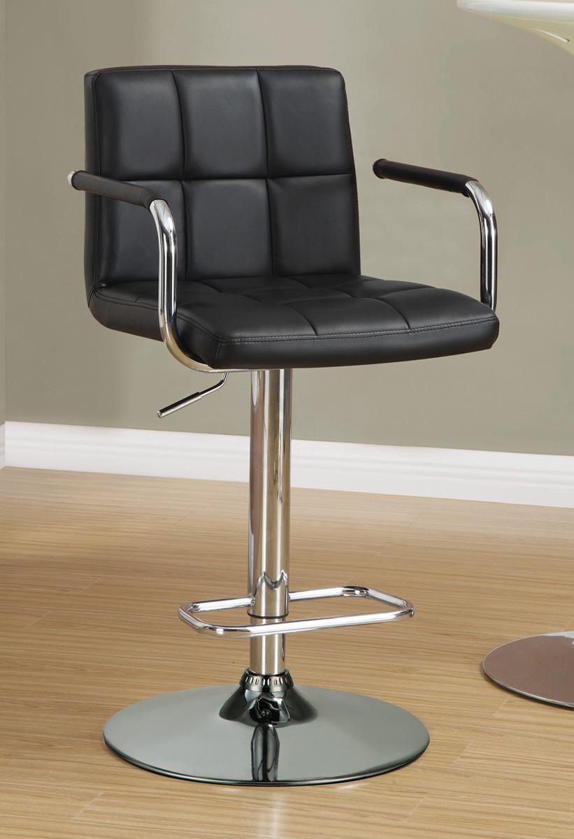 Coaster 121095 Adjustable Bar Stool - Black