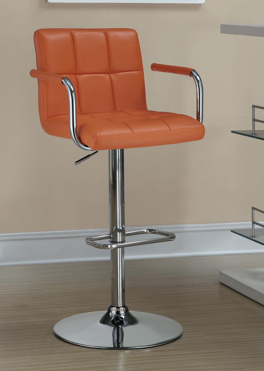 Coaster 121098 Adjustable Bar Stool - Orange