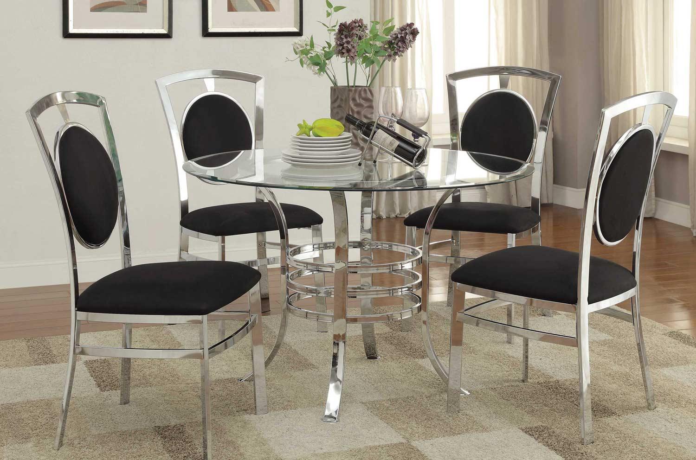 Coaster Auror Dining Set - Chrome