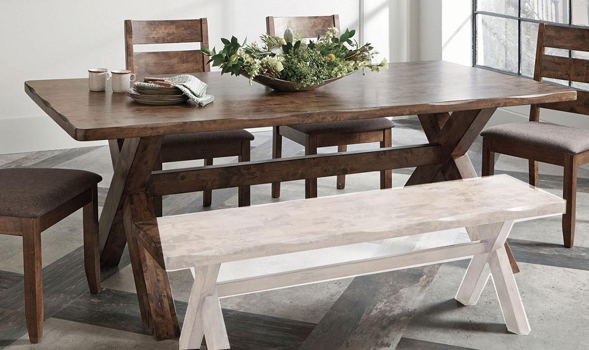 Coaster Alston Rectangular Dining Table - Knotty Nutmeg