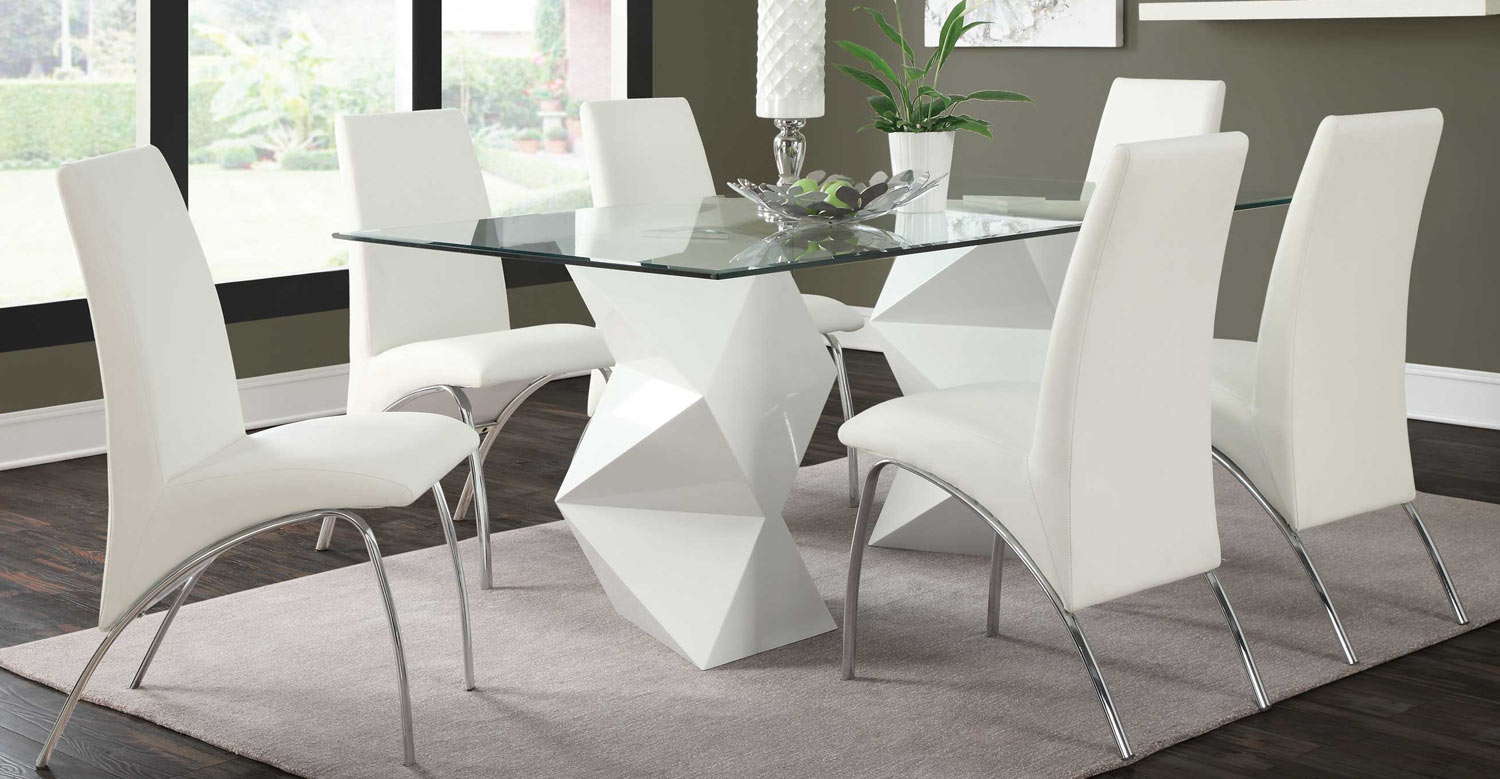 Coaster Ophelia Dining Set- White