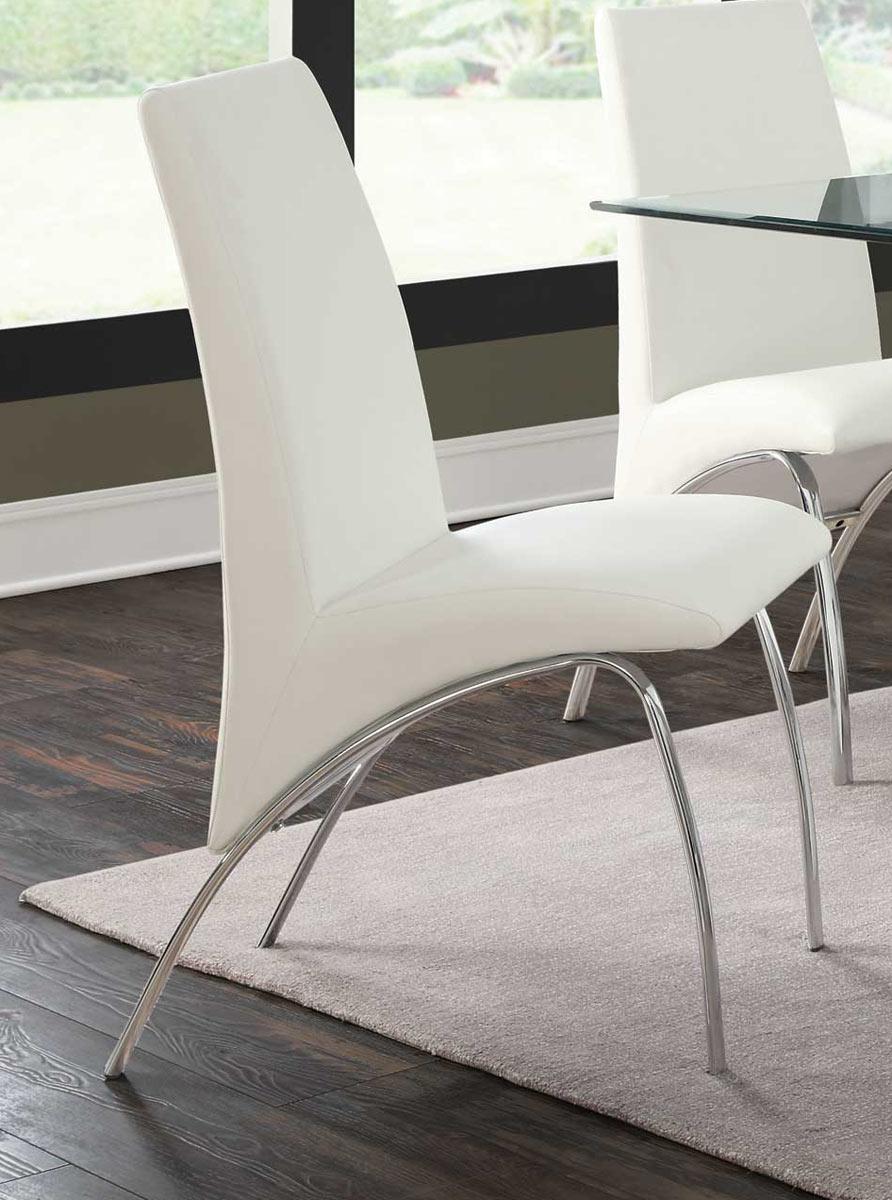 Coaster Ophelia Side Chair - White