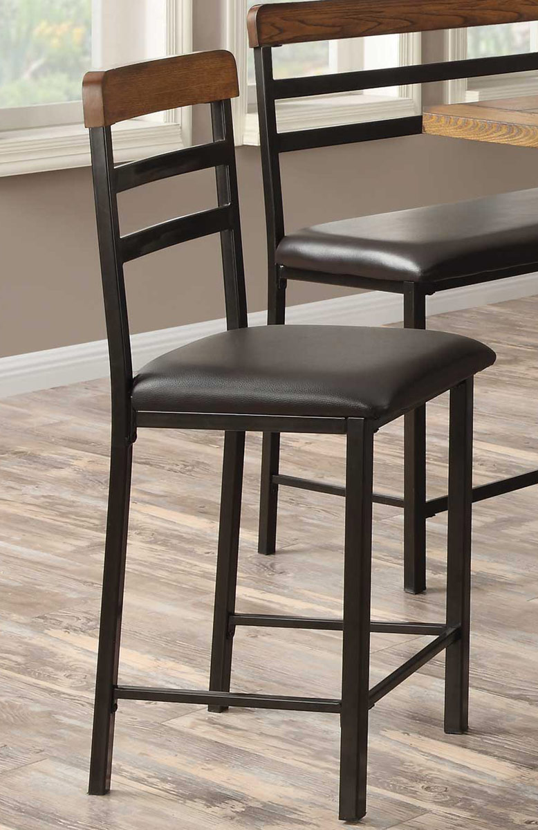 Coaster Sheldon Counter Height Dining Set OakBlack  : CO 121609 from www.homelement.com size 778 x 1200 jpeg 179kB