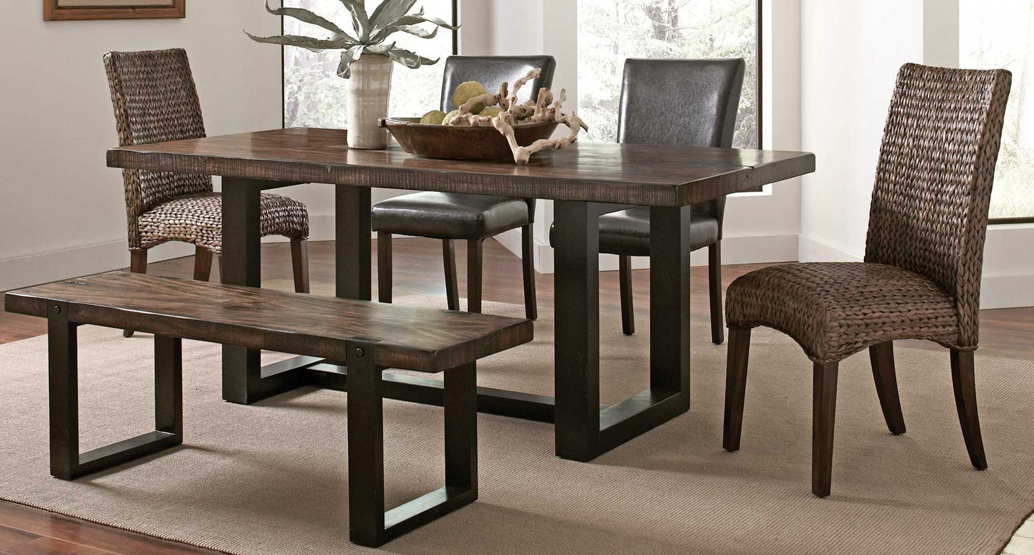 Coaster Westbrook Dining Set - Brown/ Black