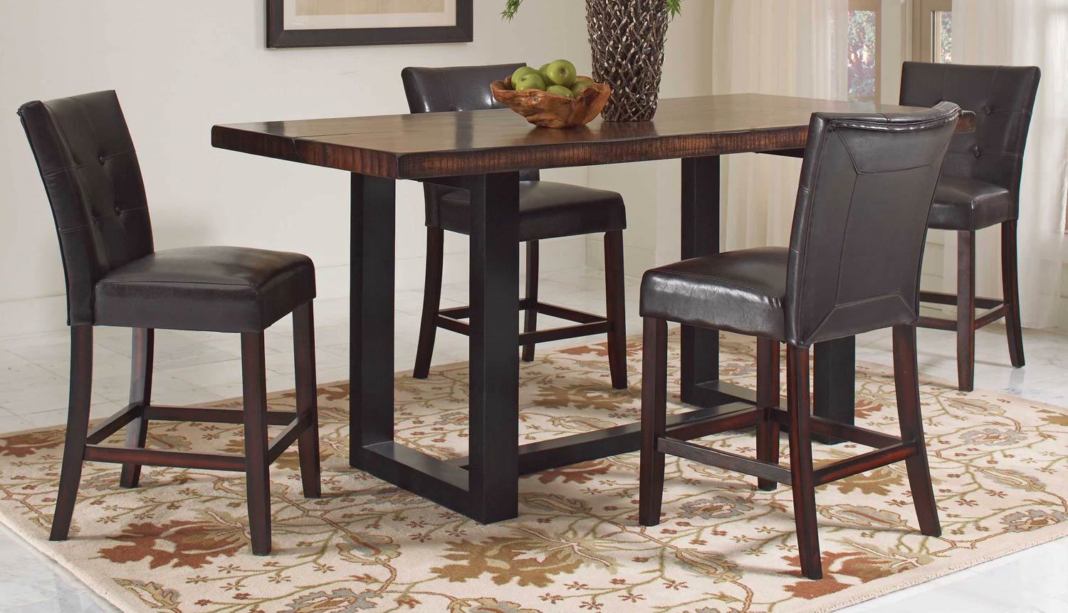 Coaster Westbrook Counter Height Dining Set - Brown/ Black
