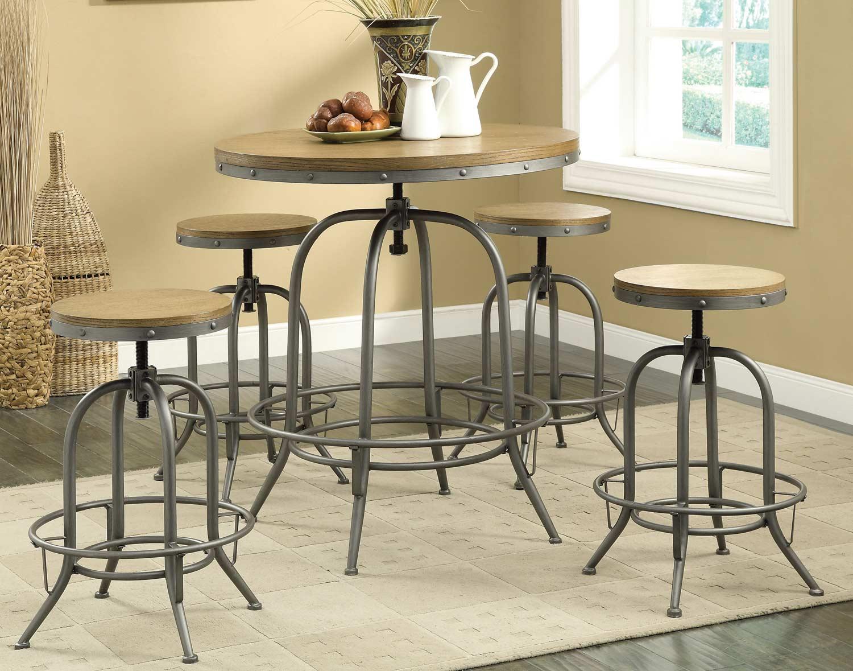 Coaster 122098 Adjustable Bar Set - Brown