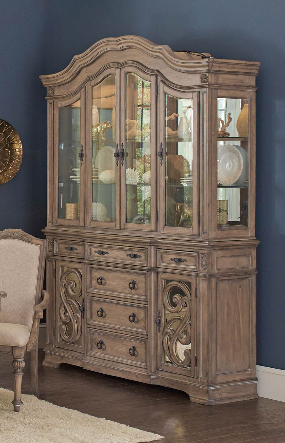 Coaster Iliana China Cabinet - Antique Linen