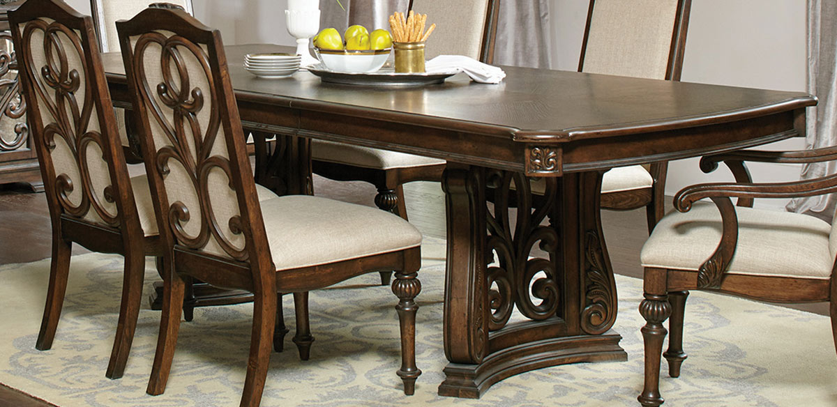 Coaster Ilana Trestle Dining Table - Antique Java