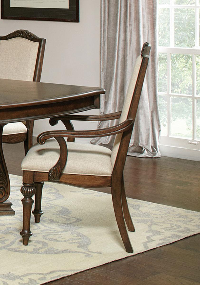 Coaster Ilana Arm Chair - Antique Java/Cream Fabric