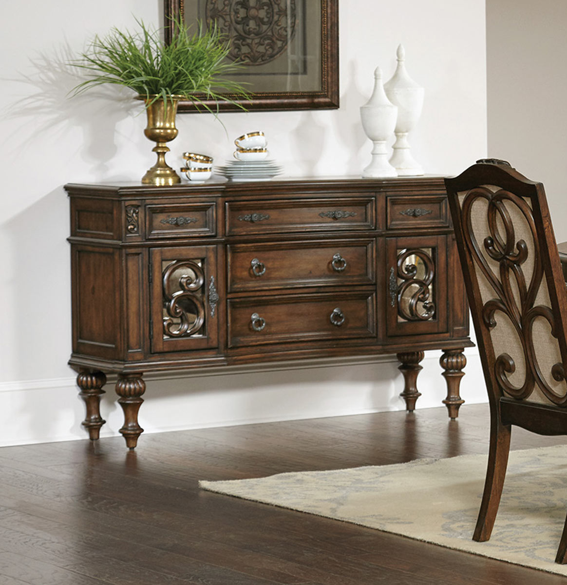 Coaster Ilana Console Server - Antique Java