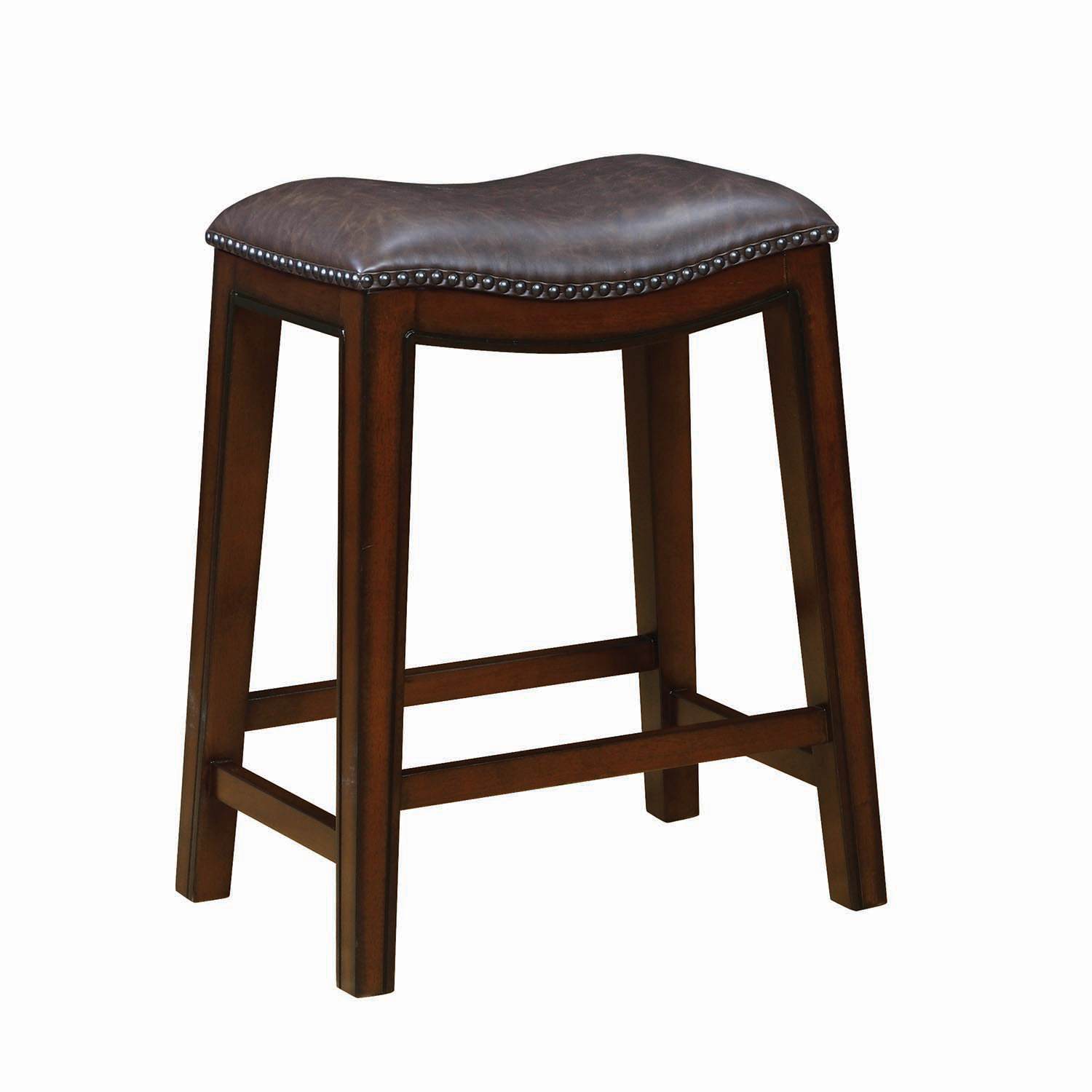 Coaster 122263 Counter Height Stool - Burnished Cappuccino