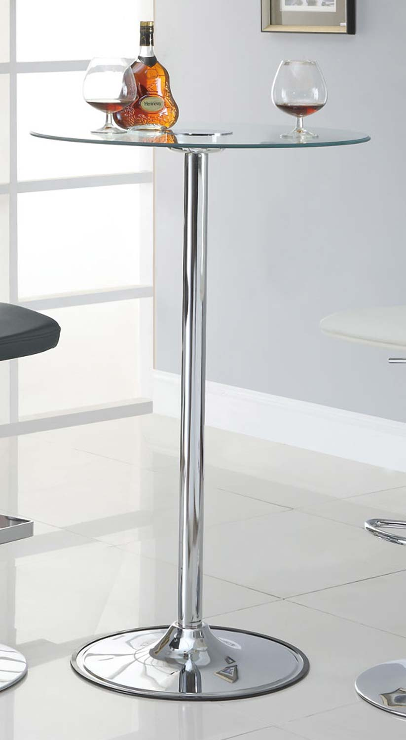 Coaster 122400 42in LED Glass Top Bar Table
