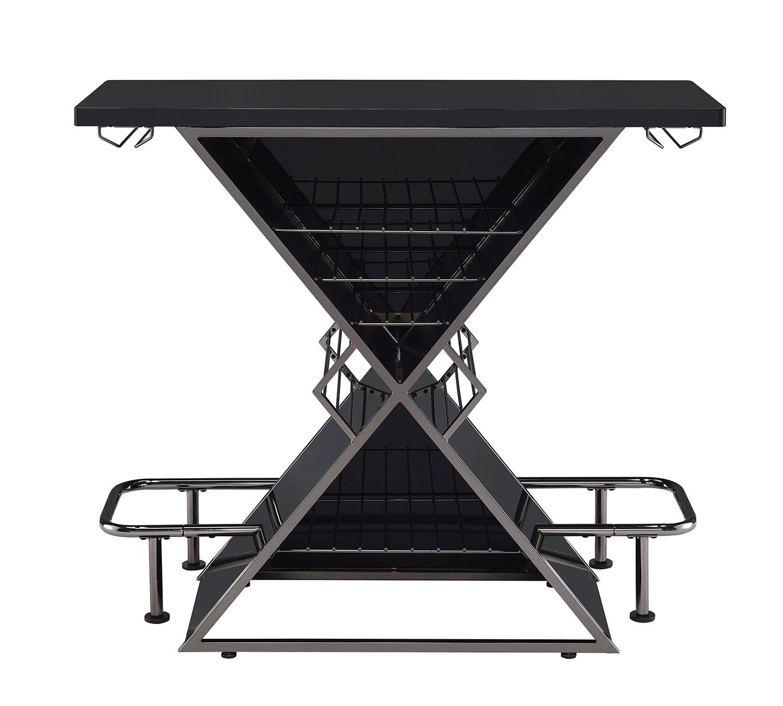 Coaster 130077 Bar Unit - Black Acrylic