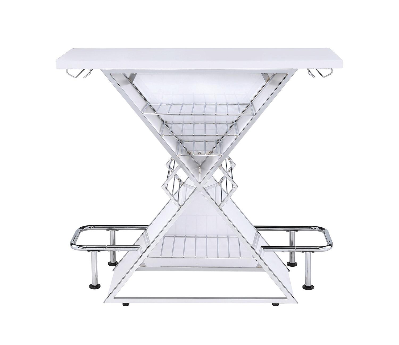 Coaster 130078 Bar Unit - White Acrylic