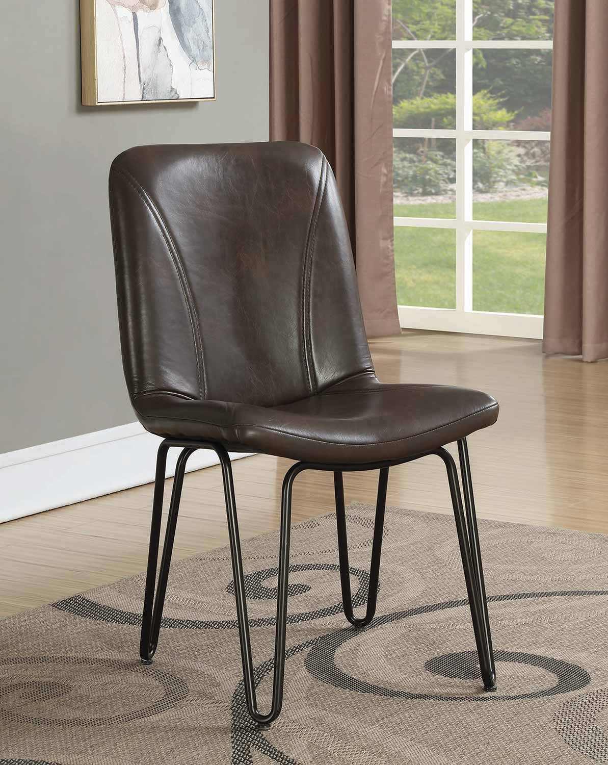 Coaster Chambler Dining Side Chair - Brown Leatherette
