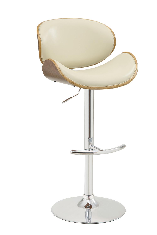 Coaster 130505 Adjustable Bar Stool - Ecry/walnut