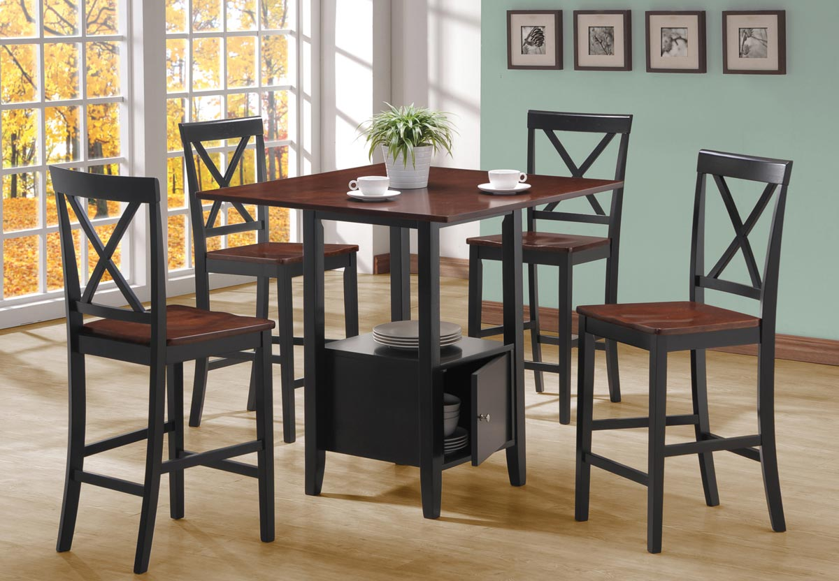 Coaster Lambert 5 Piece Counter Height Set