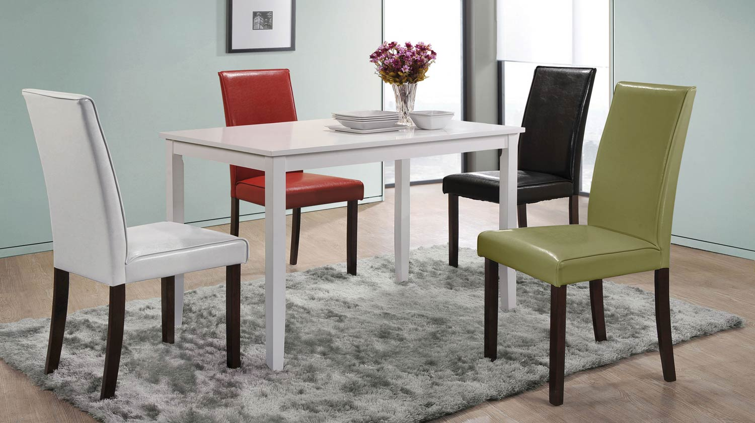 Coaster San Marcos 5-Pc Dinette Set - White/Cappuccino/Multi