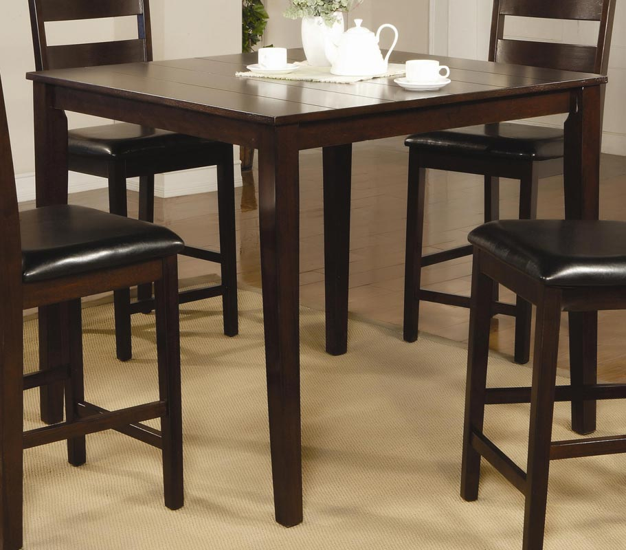 Coaster Reagan 5 Piece Square Counter Height Dining Set
