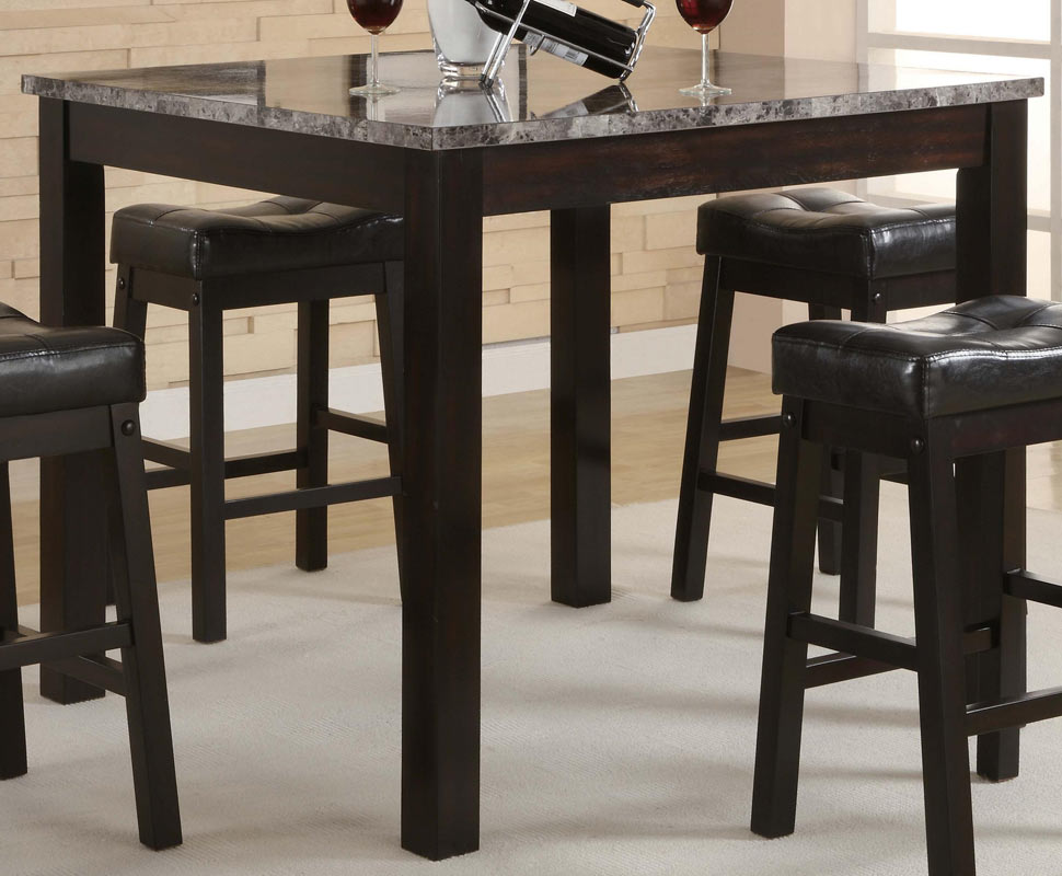 Coaster Broadway 5 Piece Square Counter Height Dining Set