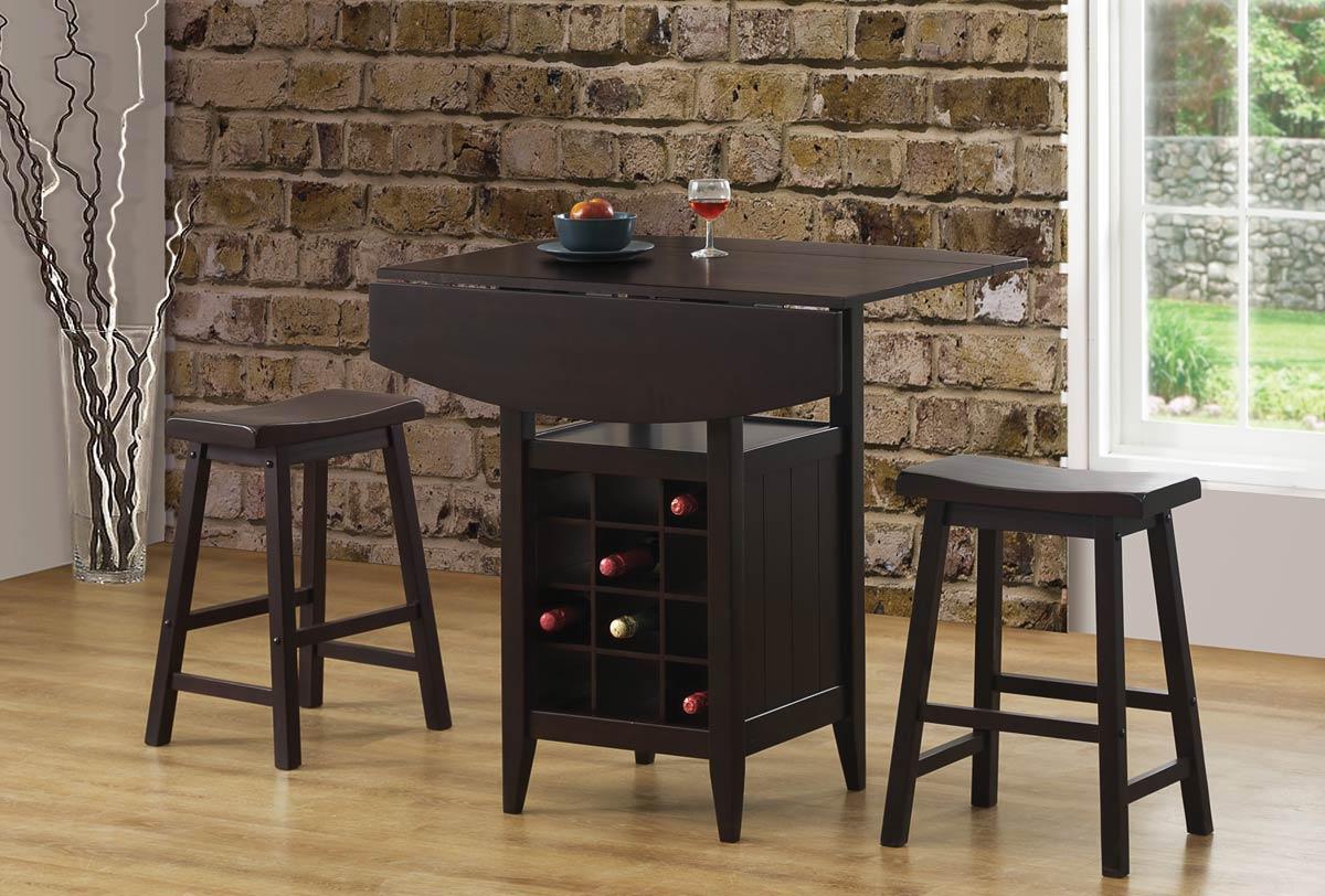 Coaster 150100 3 Piece Bar Set 150100-BarSet