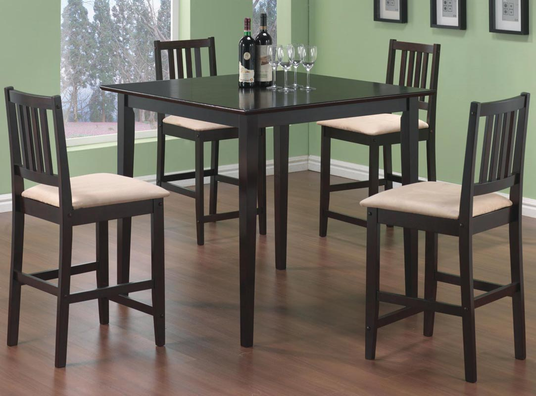 Superbe Coaster Archer 5 Piece Counter Height Dining