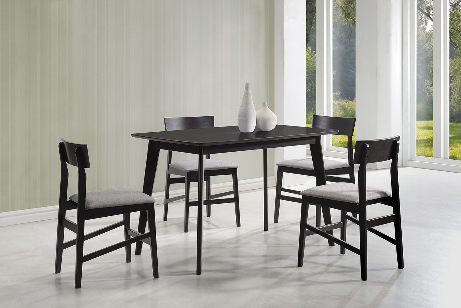 Coaster 150347 5 PC Dinette Set - Warm Grey