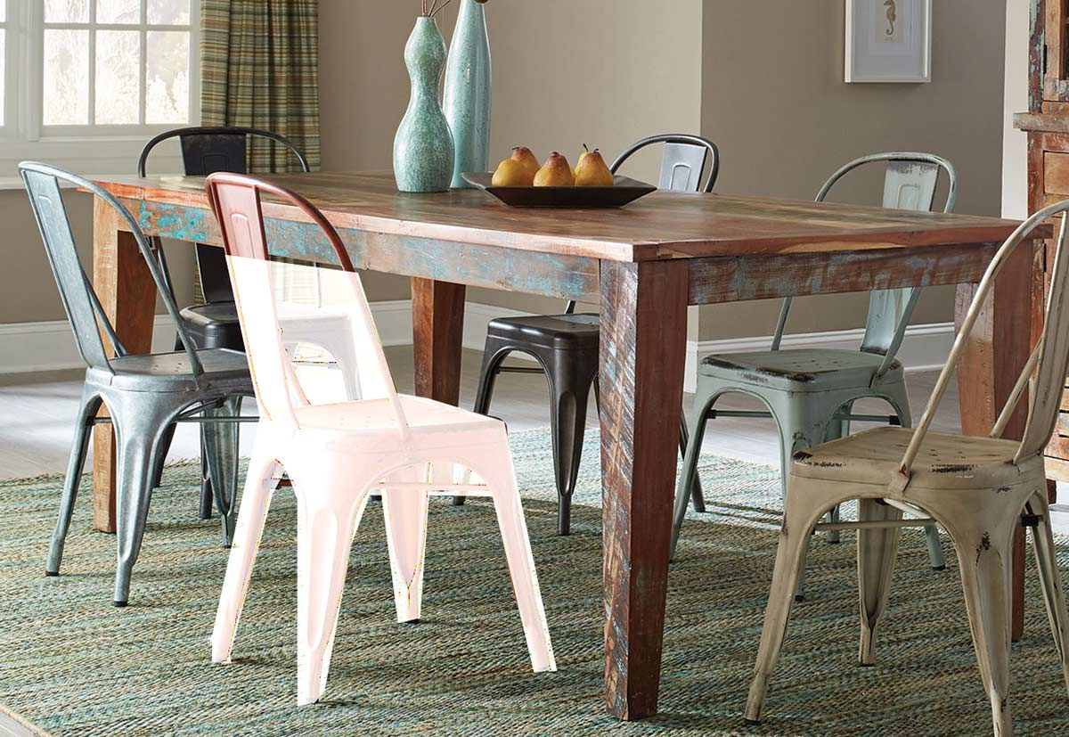 Coaster Keller Rectangular Dining Table Multi Color