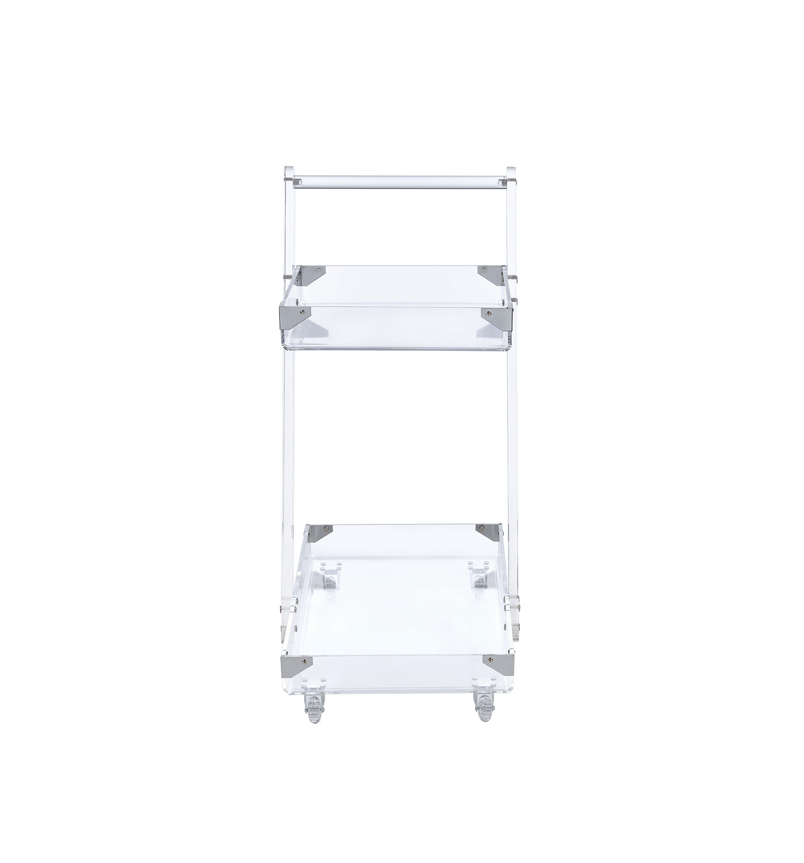 Coaster 181002 Serving Cart - Clear Acrylic/Chrome