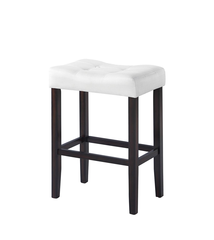 Coaster 182015 Bar Stool - White Fabric