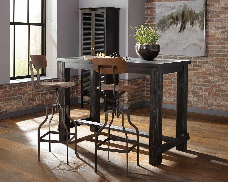 Coaster Jacinto Bar Dining Set - Antique Black