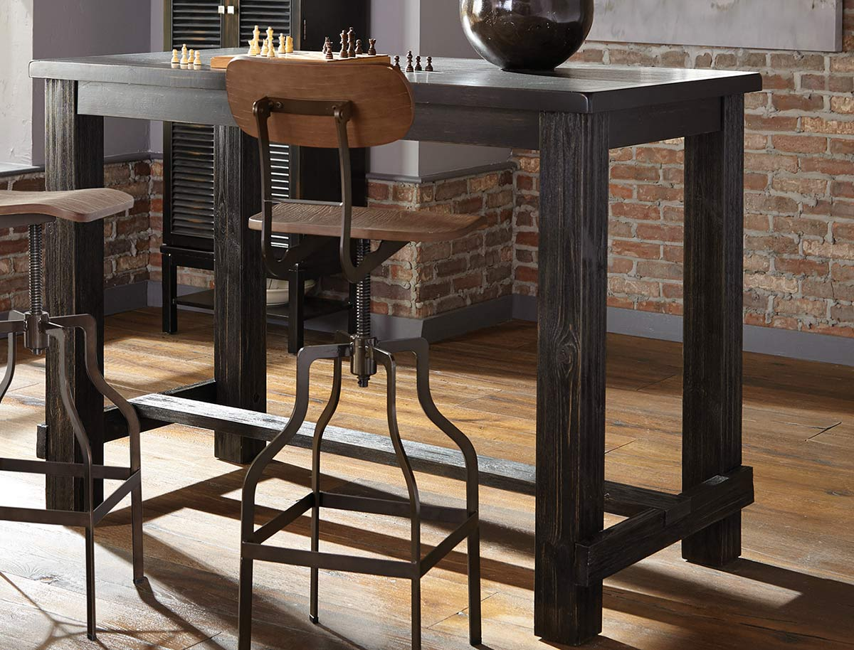 Coaster Jacinto Bar Table - Antique Black