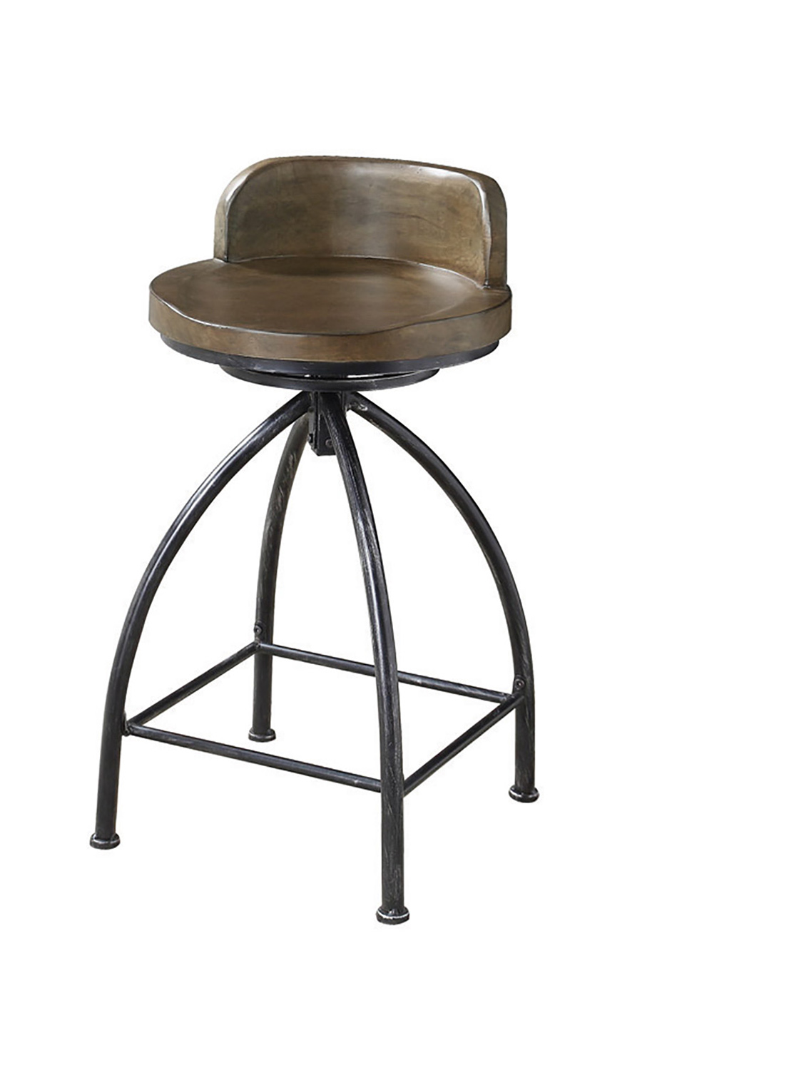 Coaster 182047 Swivel Bar Stool Cognac Black 182047 At