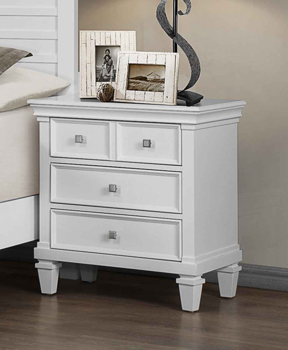 Coaster Camellia Night Stand - White