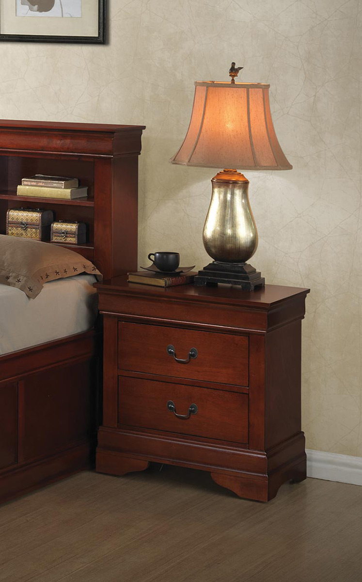 Coaster Louis Philippe Nightstand - Red Brown