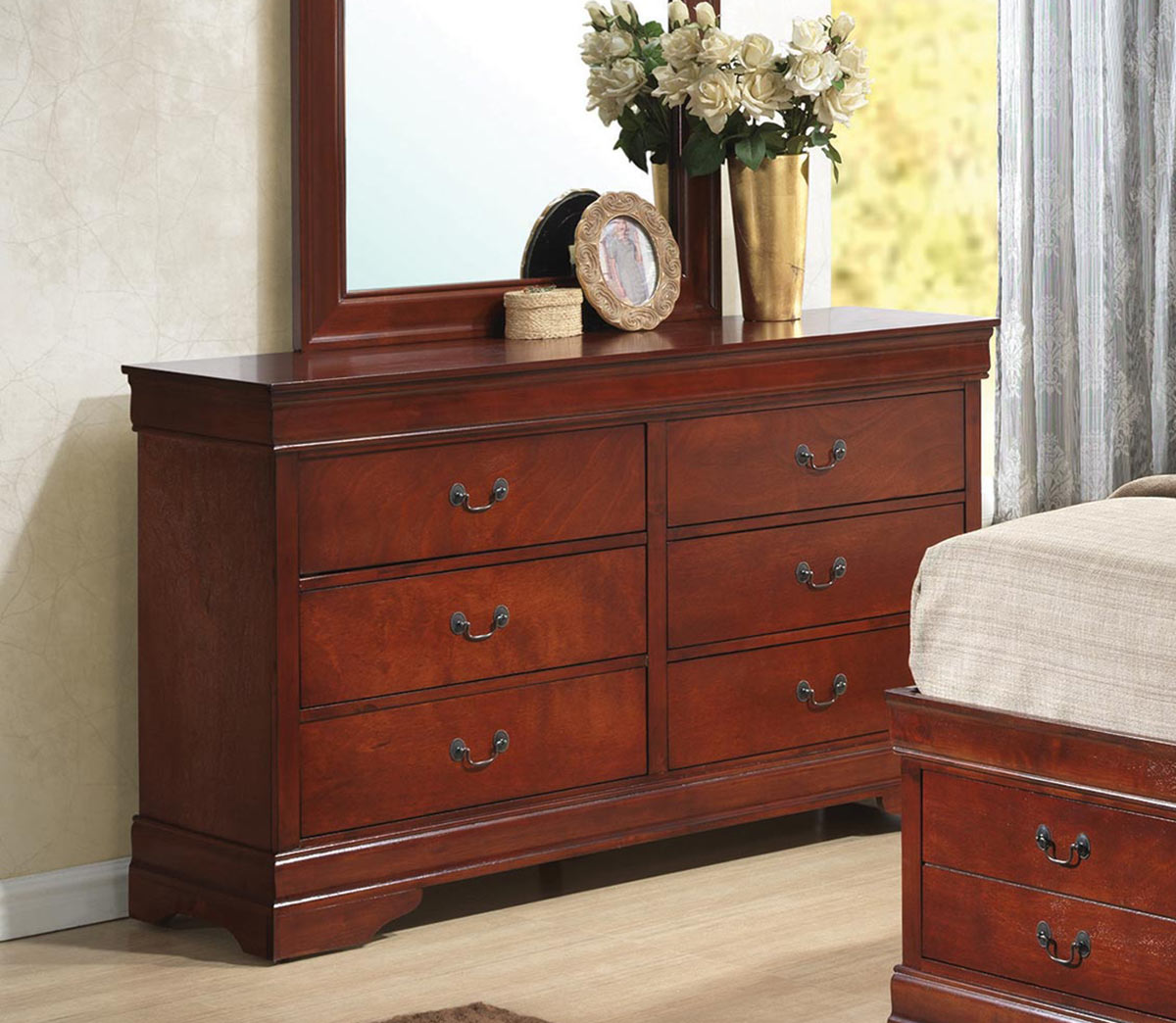 Coaster Louis Philippe Dresser - Red Brown