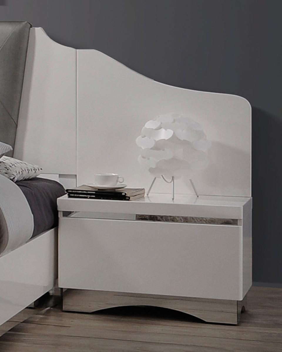 Coaster Alessandro Nightstand Panel - Pair - Glossy White