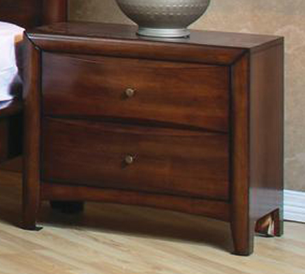 Coaster Two Drawer Nightstand in Walnut