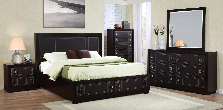Coaster elijah bedroom set merlot 200661 bed set at for Bedroom furniture for less
