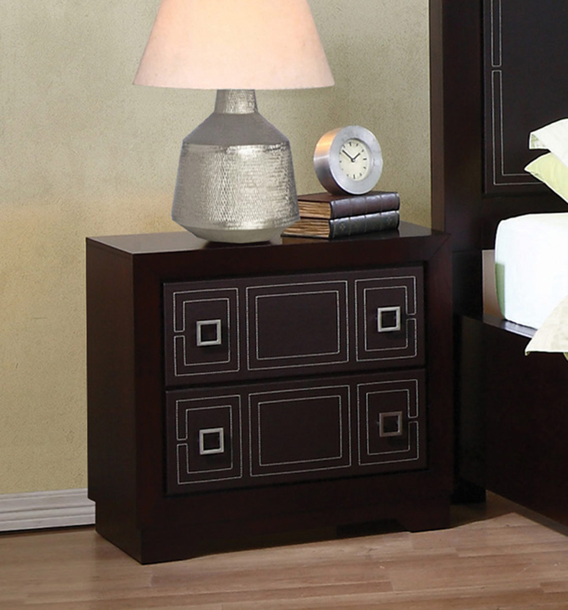 Coaster Elijah Night Stand - Merlot