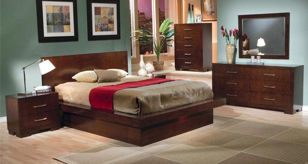 Coaster Jessica Platform Bedroom Set