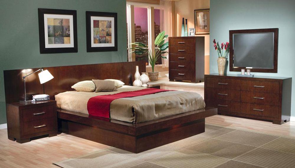 coaster jessica platform bedroom set 200711 bed set