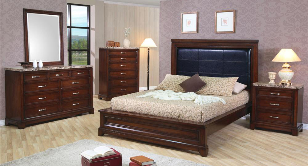 Coaster Andrea Low Profile Panel Bedroom Set