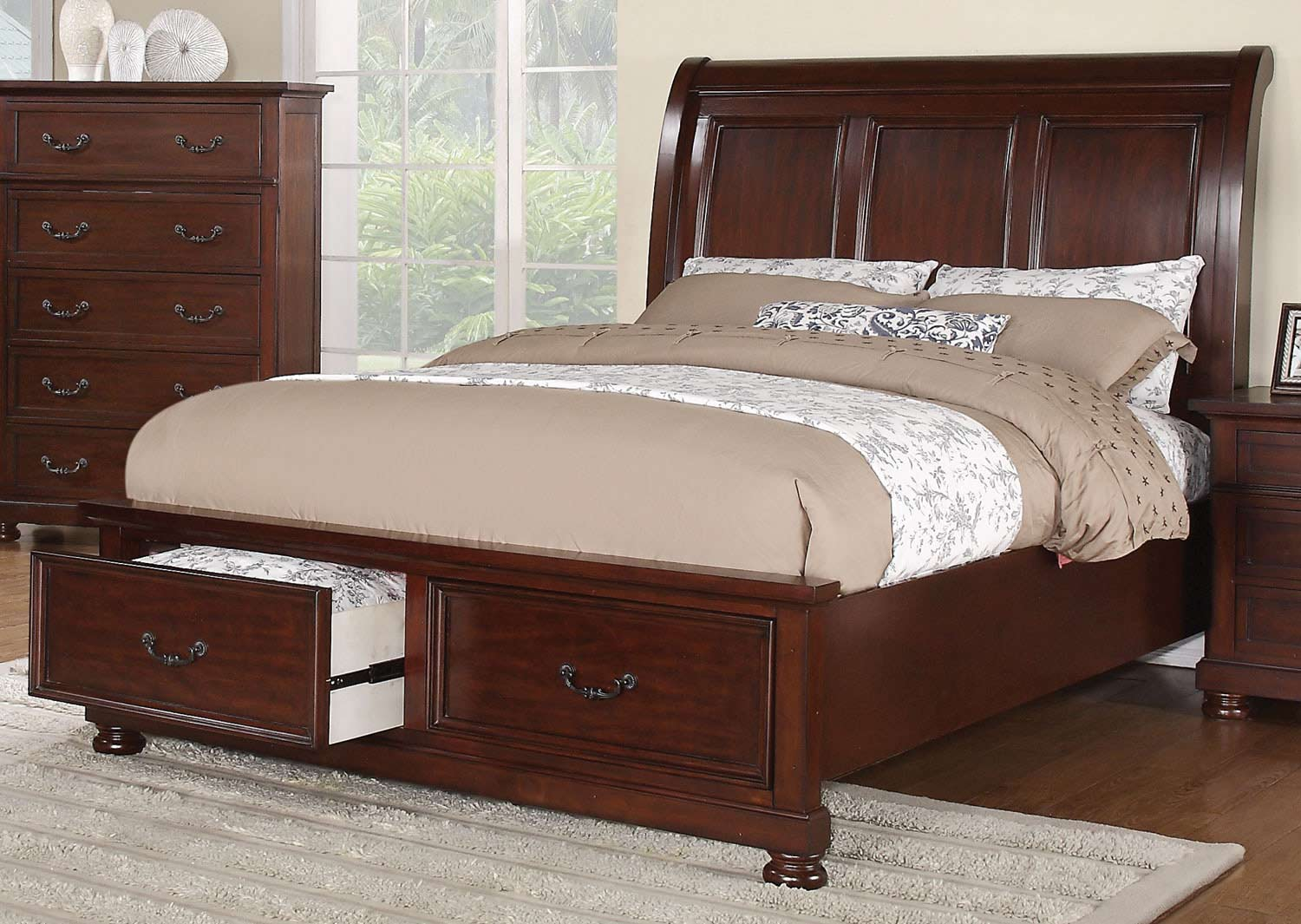 Coaster Hannah Bed - Dark Cherry
